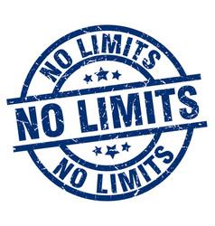No limits blue round grunge stamp vector