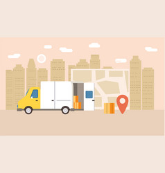 Online delivery of goods tracking online tracker vector