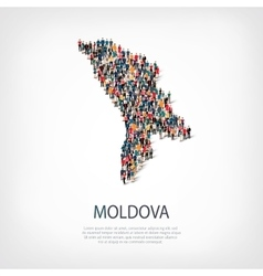 People map country Moldova vector