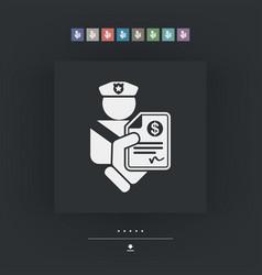 Policeman fine icon vector