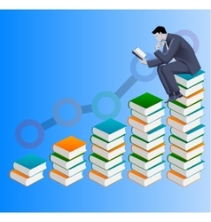 Power of knowledge business concept vector