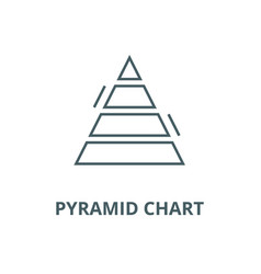 pyramid chart line icon linear concept vector image