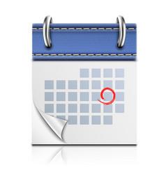 Realistic Detailed Calendar Icon vector image