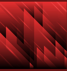 red tech geometric abstract background vector image