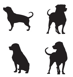Rottweiler silhouettes vector