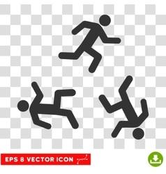 Running Men Round Eps Icon vector