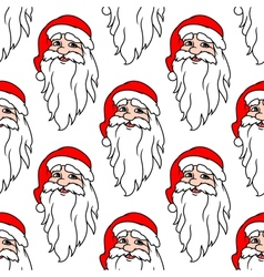 Seamless pattern with funny Santa vector image