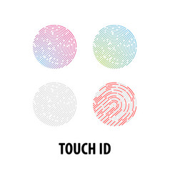 set icons touch recognition vector image