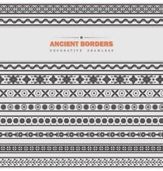 Set of seamless ancient borders vector