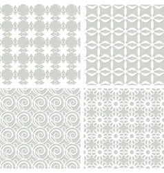 set of seamless lacy patterns vector image