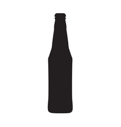 single beer bottle isolated on a white background vector image