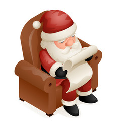 sit armchair read gift list cute isometric 3d vector image