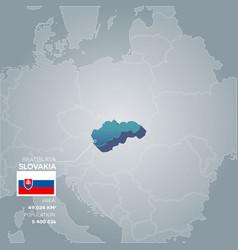 Slovakia information map vector