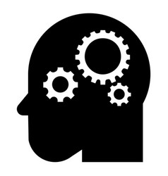 smart mind gear icon simple style vector image