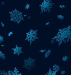 snowflake fall vector image