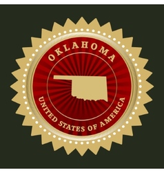 Star label Oklahoma vector