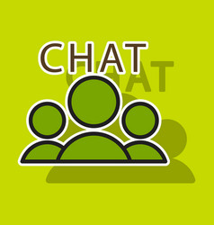 Sticker mobile phone chat interface design vector