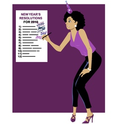 Sticking to your New Year resolutions vector