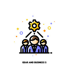 technical business team and gear icon vector image