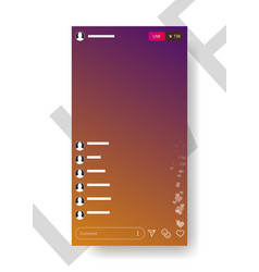 The template is live streaming vector