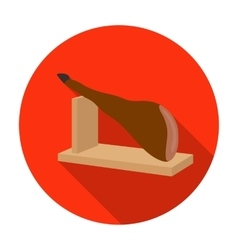 Traditional spanish jamon icon in flat style vector