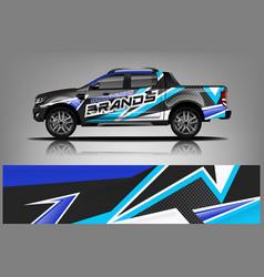Truck wrap design for company vector
