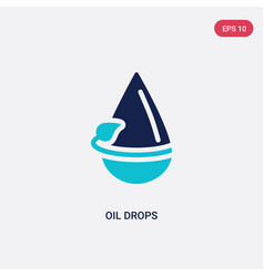 Two color oil drops icon from ecology concept vector