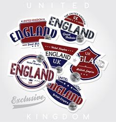 UK labels vector