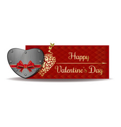 valentines day banner design vector image