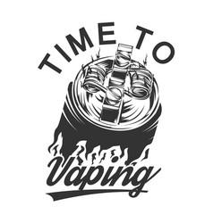 Vape logo vaping vector
