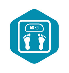 weight scale icon simple style vector image