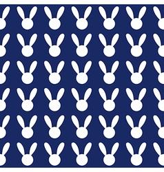 White Rabbit Navy Blue Background vector image