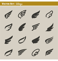 Wings - set of design elements vector image