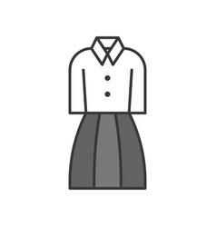woman office uniform filled color outline vector image