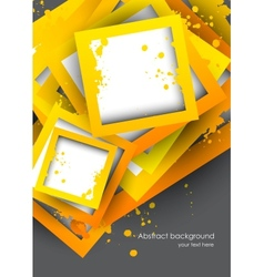 Background with orange squares vector image vector image