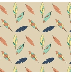 Feather pattern in yellow and blue tones vector image