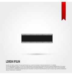 Film strip icon Flat design style Template vector image