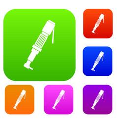 Pneumatic screwdriver set color collection vector