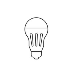 black thin line led bulb icon vector image vector image