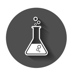 Chemical test tube pictogram icon laboratory vector