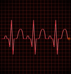 Electronic graph in red color vector image vector image