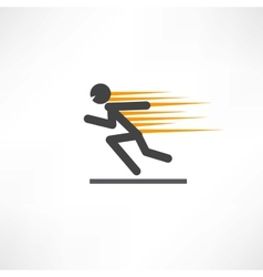 Fast runner vector image vector image