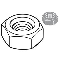 metal nut vector image vector image