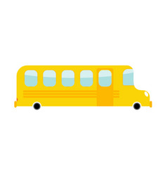 School bus cartoon style transport on white vector