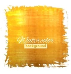 Square orange watercolour banner vector image vector image