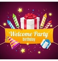 Welcome Birthday Card vector image vector image