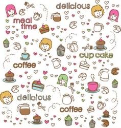 cute doodle vector image vector image
