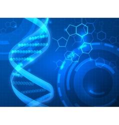 DNA medical background vector image vector image