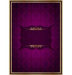 Purple celebrate card vector