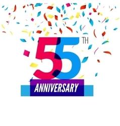 Anniversary design 55th icon anniversary vector image vector image